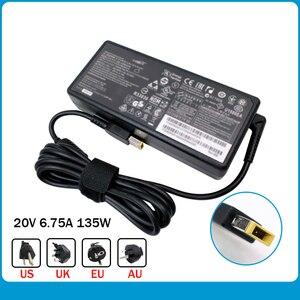 Оригинальный адаптер переменного тока для ноутбука, зарядное устройство для ноутбука Lenovo T440p, 20 в, 20 в, 6,75 А, ADL135NDC3A, 20 в, 6,75 А, 135 Вт