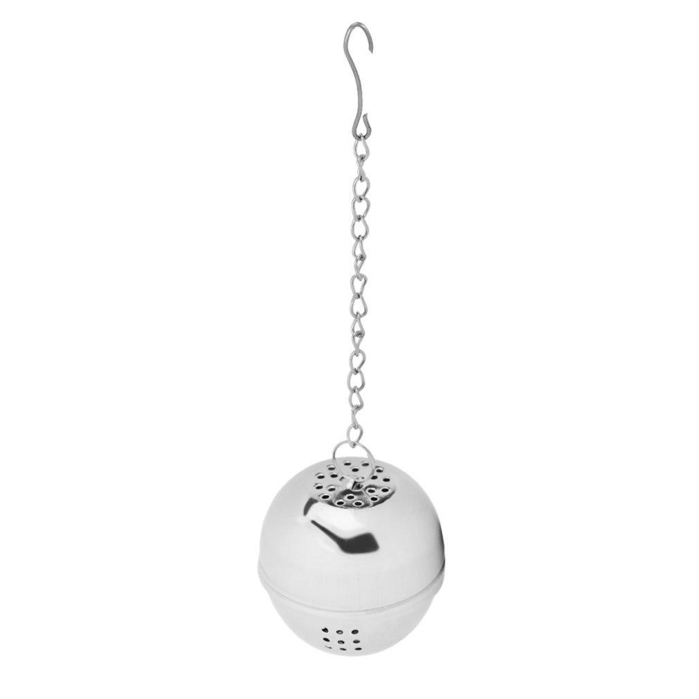 Duolvqi 1pcs Spice Egg Shaped Silver Stainless Steel Seasoning Ball Teakettles Strainer Tea Filter Locking