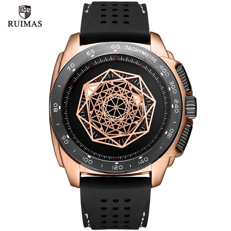 Watches Men Sports Military  Quartz Wrist Watch Waterproof Clock Male Relogio Masculino Silicone Black