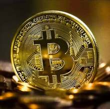 BITCoin Art Collection Gold Plated Physical Bitcoins Bitcoin BTC with Case Gifts Physical Metal Antique Imitation Silver Coin