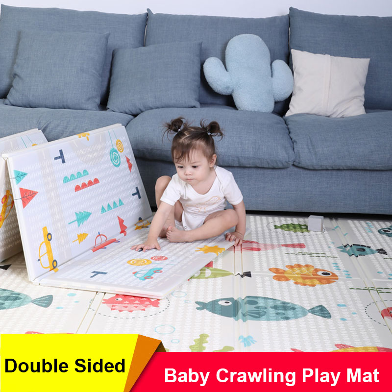 Double Sided Baby Play Mat Extra Large Foam Floor Crawling Mat Waterproof Nursery Rug for Toddler Educational XPE Puzzle Mat