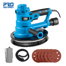 750W Drywall Sander 230V Wall Polishing Grinding Machine Portable Led Light 610-2150/min Wall Putty Polisher by PROSTORMER