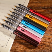 Metal Calligraphy Pen Soft Hair Writing Pen Watercolor Pen Ink Pen Painting Tools School Office Supplies Stationery