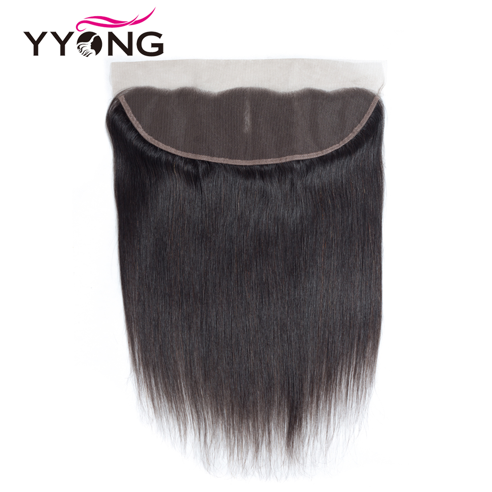 YYong 26in HD Transparent 13x4 Lace Frontal With Bundles  Straight  Bundles With Ear To Ear Lace Closure 4