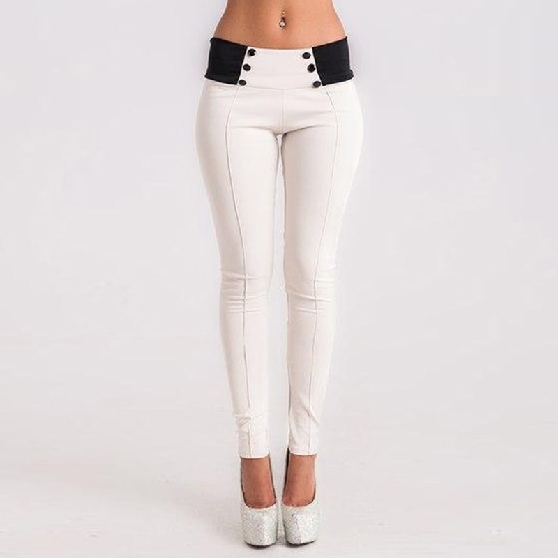 GAOKE Spring Autumn Trousers Women Pencil Pants Long Skinny Pants Female Long Trouser Stretch Modal Mid Waist Straight Pants