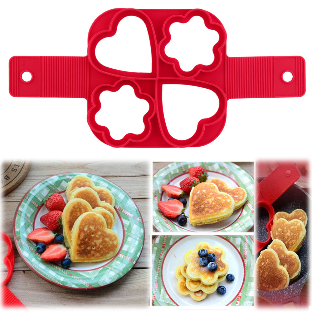 4 Cavity Pancakes Maker Fantastic Fast & Easy Way to Make Perfect cooking tool Silicone Pancake Mold Pastry Tools New arrival