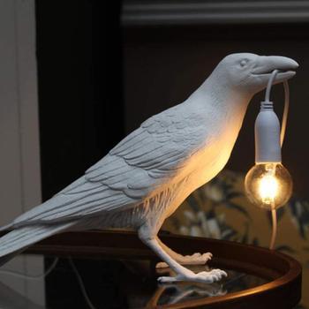Resin Table Light, Art Bird Desk Accent Lamp, Animal Home Decorate Lamps for Restaurant, Store, Cafe, Bar, Bedside Decor