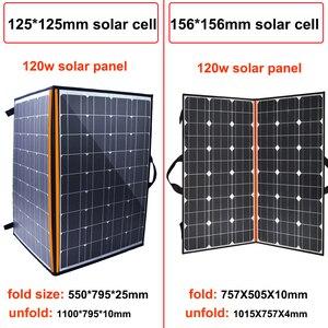 Image 5 - солнечная батарея на телефон панель 12v Складной набор солнечных панелей 100 Вт 120 Вт 150 Вт 12 В портативное солнечное зарядное устройство домашняя система 5 в USB телефон для RV Автомобиля Караван лодки