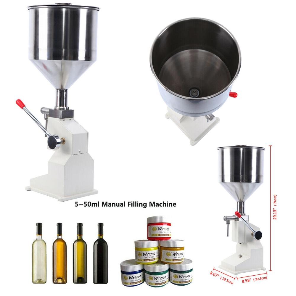 5-50ml Manual Liquid Filling Machine Paste Bottle Shampoo Oil Cosmetic Filler Water Liquids Filling Machine