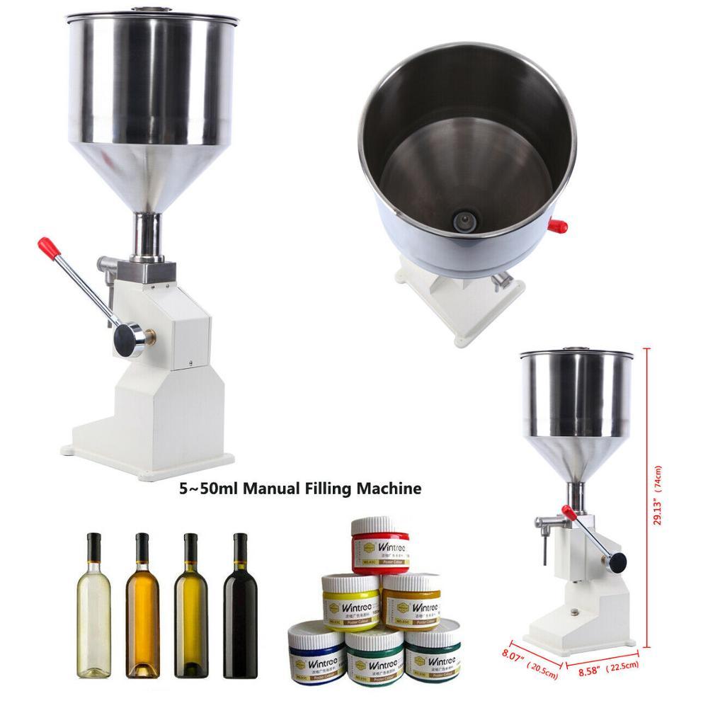 Máquina de llenado de líquido Manual de 5-50ml botella de goma aceite de champú máquina de llenado cosmético de líquidos de agua