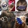Rhinestone Hairpin Flower Leaf Butterfly Duckbill Hair Claws Retro Hair Clips Accessories For Women Shinning Ponytail Headwear 6
