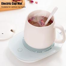 Подогреватель чашек бытовой Электрический сенсорный нагревательный коврик для чашек теплый коврик для кофе чая CN Plug 220 В Calienta Taza