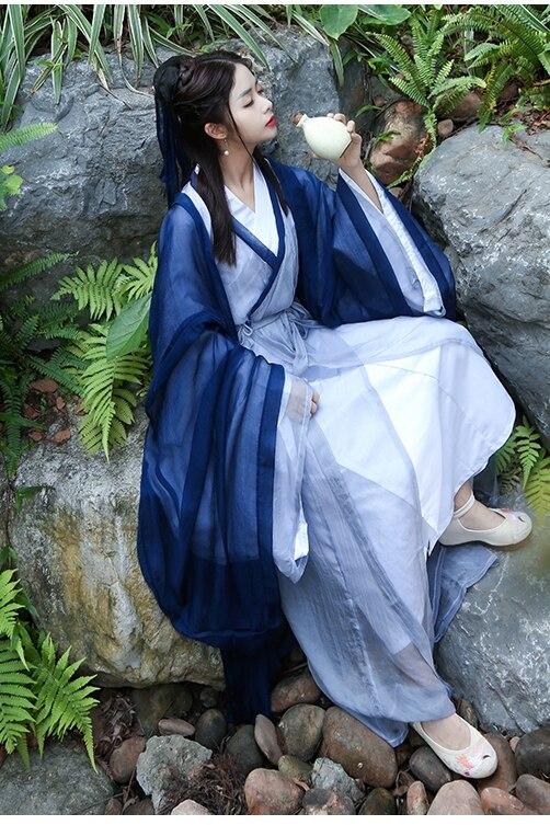 2019 Hanfu Coat Chinese Crane Print Hanfu Coat Traditional Ancient Han Tang Dynasty Red Cloak Female Cosplay Cardigan