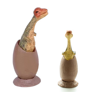 Image 2 - 6PCS 6.5cm Dinosaur Fossil Eggs Toys Set Collection Model Action Figures Dinosaur Party Role Play Educational Toys For Kids Gift