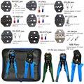 Kit d'outils de sertissage multi tool ingénierie cliquet Terminal outil de sertissage outil de sertissage + tournevis + dénudeur de fil ensemble d'outils à main|Pinces| |  -