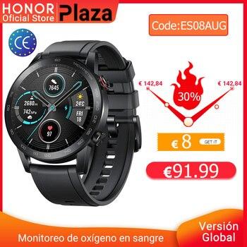 8€  Code: FR08AUG Version mondiale Honor Magic Watch 2 montre intelligente Bluetooth 5.1 Smartwatch oxygène du sang 14 jours étanche MagicWatch 2
