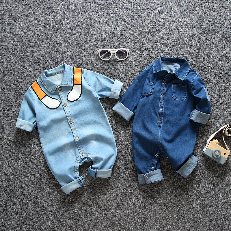Newborn Baby Romper Spring Denim Jumpsuit Baby Girls Clothes For Baby Winter Warm Overalls Snowsuit For Boys Clothes 9 24 Month