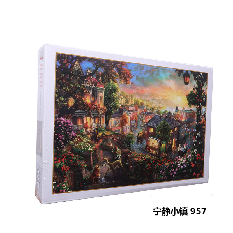 1000Pieces Jigsaw Puzzles Roll Felt Mat Educational Toys Educational Puzzle Blanket Toy For Kids/Adults Christmas Halloween Gift