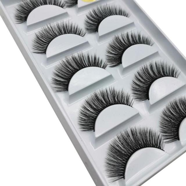5 Pairs Eye Lashes Hand Made Natural fake eyelashes 3d Mink Lashes Soft Dramatic Eye Lashes For Makeup Cilios Mink Maquiagem 5
