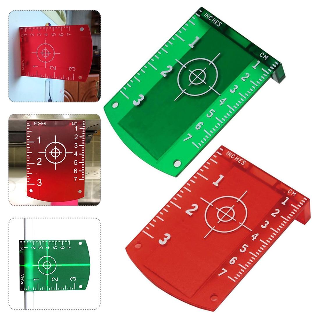 Светоотражающая магнитная доска без заусенцев красного или зеленого цвета Магнитная мишень для вертикальной и горизонтальной линии Луч расстояние доска карты