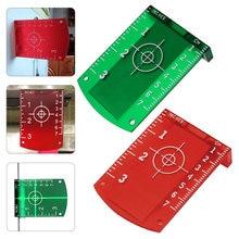 Placa magnética reflexiva nenhuma placa de alvo magnética vermelha ou verde da rebarba para o cartão vertical & horizontal da placa da distância do feixe da linha