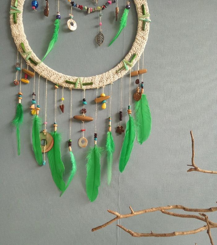 Один кусок ручной работы Ловец снов перо свадебное украшение подарок 40*75 см - 2