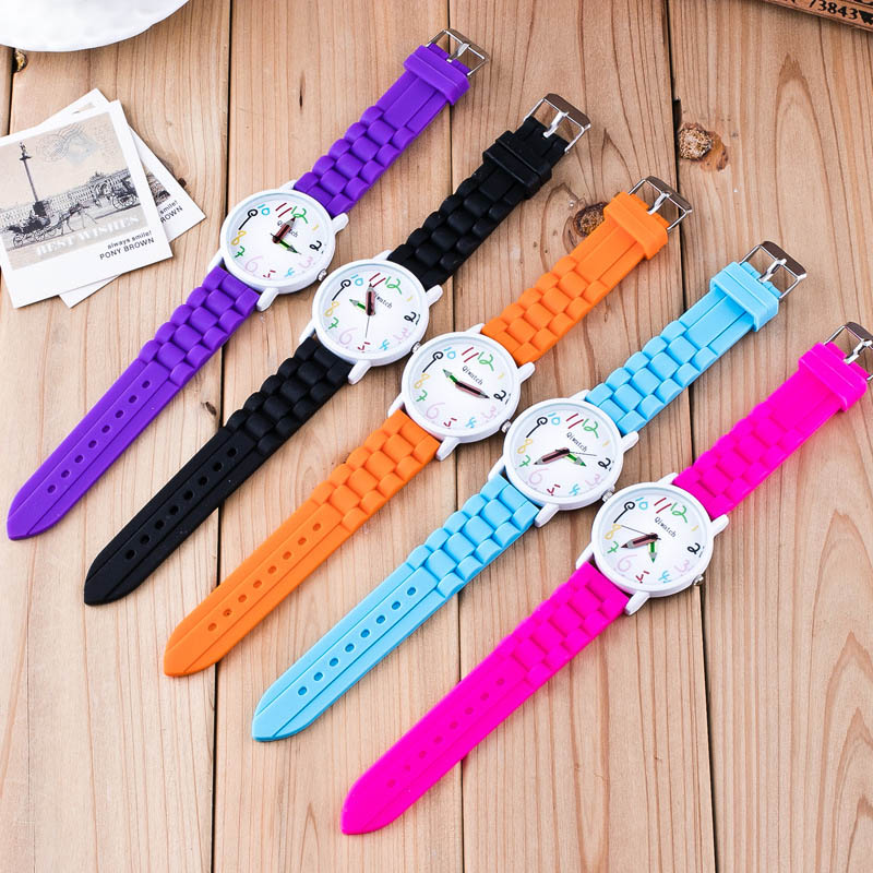 Silicone Watches Children Pencil Pointer Student Watch Quartz Wristwatches Gift Watches High Quality
