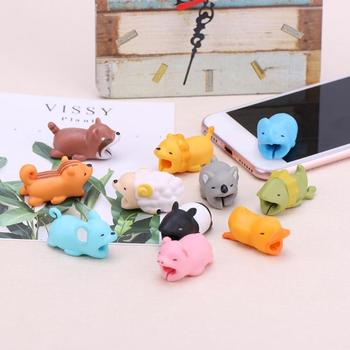 Animal Shape Bite Anti Break Data Cable Cord Wire Protective Cover Cable Management Protector Cable Winder image