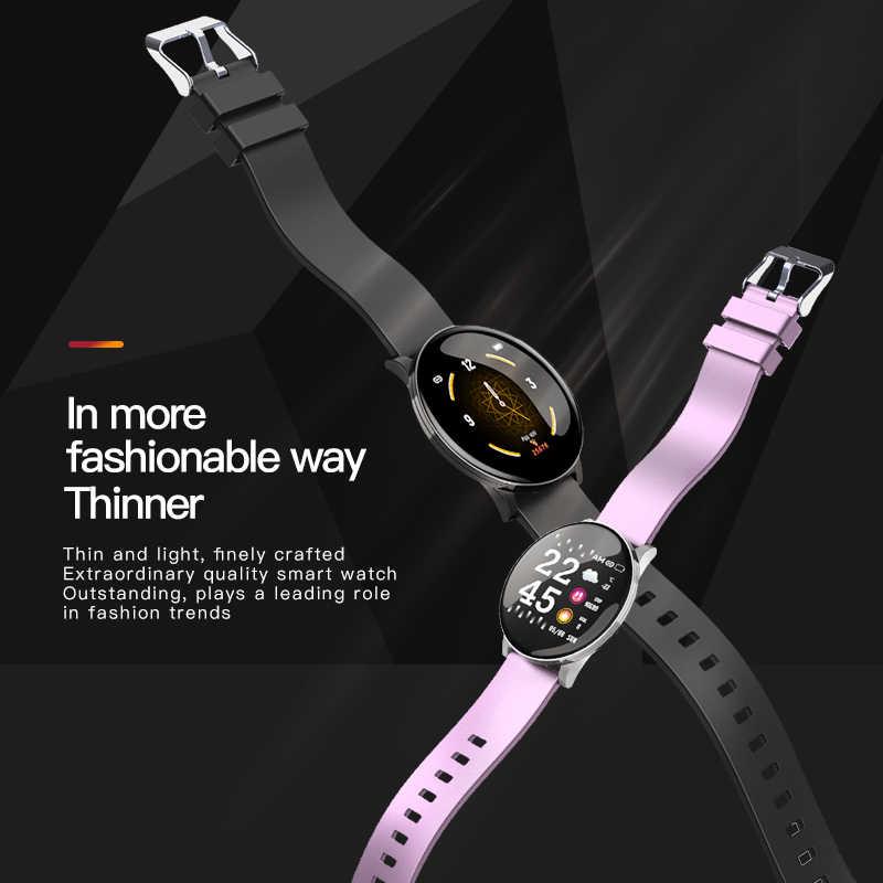 W8 スマートウォッチアンドロイド腕時計男性フィットネスブレスレット女性のための心拍数モニタースマートウォッチ防水スポーツウォッチ電話