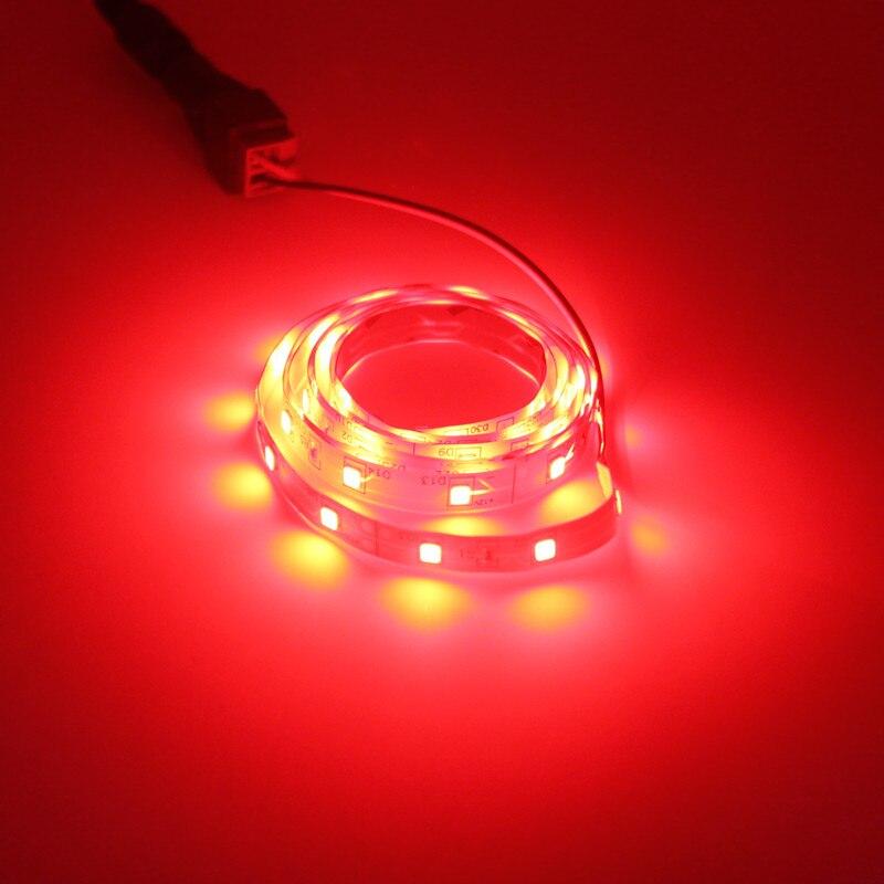Image 3 - 5m conjunto 2835smd led strip neon led corda luz fita cor  vermelho verde azul branco quente 12v 60leds/mTiras de LED   -
