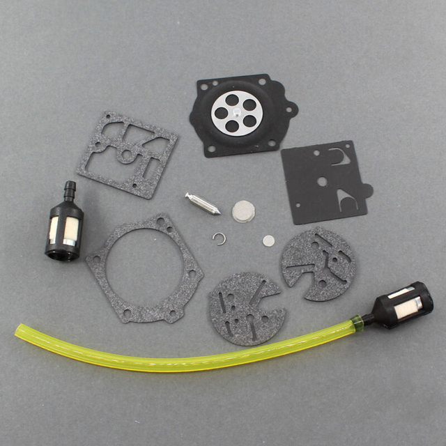 1 Set Carb Carburetors Chainsaw Repairing Kit For McCulloch Pro Mac 610 650 655 Chain Saw Fuel Line Tool Parts