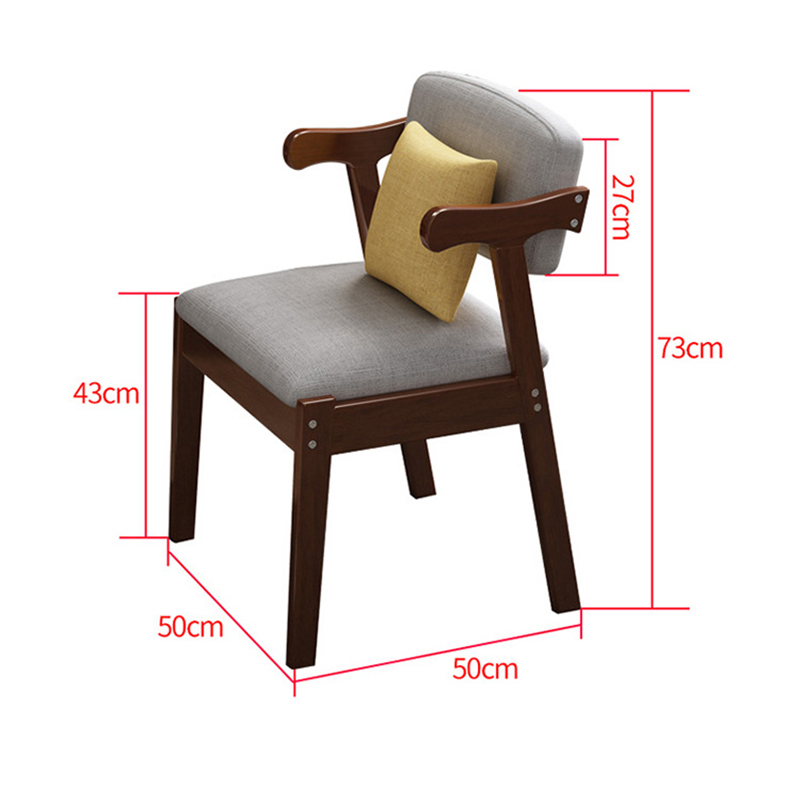 Image 5 - Home Modern Armchairs for Living Room chaise scandinave fotel 2019 New Simple Style Solid Wood Lounge Chair Student Armchair-in Office Chairs from Furniture