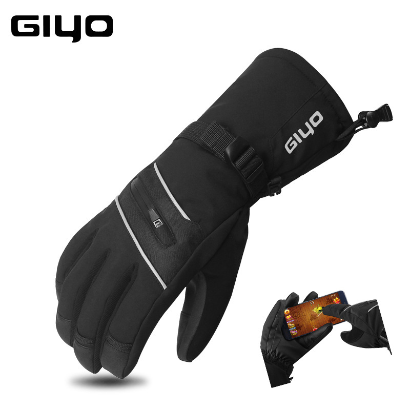 GIYO  S-06 Extreme Cold Ski Gloves Sports Touchscreen Waterproof Thermal Fleece Gloves For Running Jogging Hiking Cycling Bike