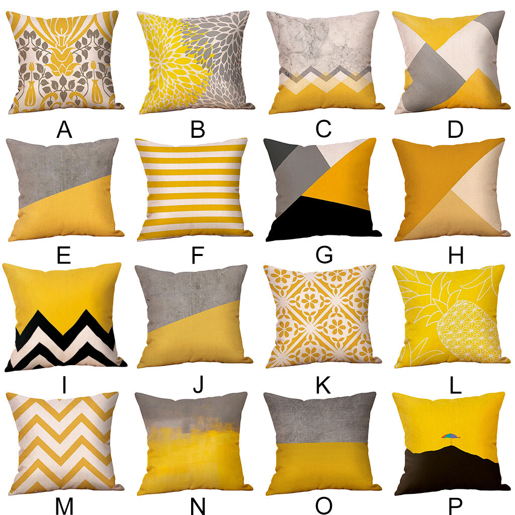 18/'/' Geometric print Cotton Linen Pillow Case Cushion Cover Sofa Home Decor