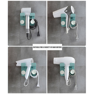Wall Mount Hair Dryer Rack Bathroom Hanger Drill-Free Shelf Multi-Functional Wall-Mounted Receiving Frame Holder
