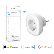New Mini Wifi Smart Socket EU Power Plug Mobile APP Remote Control Energy Monitor Works with Amazon Alexa Google Home min eu tuya wifi mini smart socket electrical plug 10a power monitor app remote control smart life works with alexa google home