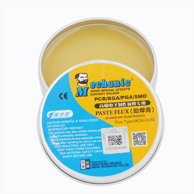 MCN-UV80 No-Clean 50g Paste Flux Soldering Tin BGA Solder Flux Electric Soldering Iron Welding Fluxes For PCB BGA PGA SMD