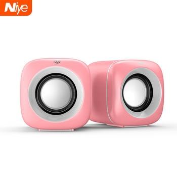 USB Wired Computer Speakers Pink Laptop Speaker Subwoofer Deep Bass Sound Box Music Player Loudspeaker Haut-parleurs Cute Column 1