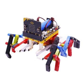 Kit Di Costruzione Robot | Programma Intelligente Kit Di Robot Di Programmazione A Vapore Istruzione Building Block Spider Per Micro: Bit Programmabile Giocattoli Per Gli Uomini Bambini