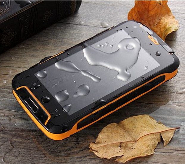 F605 Cheapest Waterproof Smartphone 4.5'' WIFI 3G WCDMA Dual Sim Quad Core 5MP Mobile Phone GPS Shockproof Phones Russian Menu