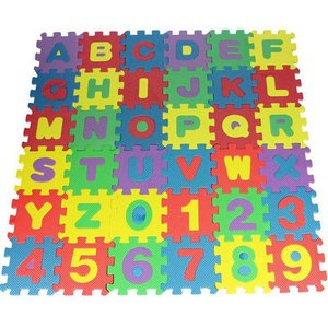 36pcs English Made Of Foam Very Durable No Harm To Baby Or Kids Soft Eva Foam Baby Kids Play Mat Alphabet Number Puzzle Toy