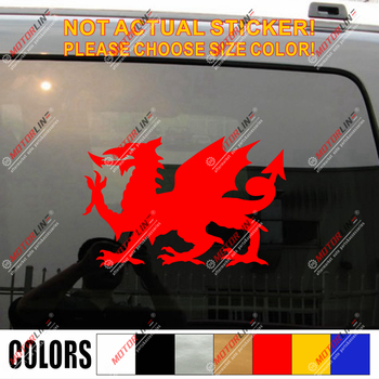Wales Red Dragon Decal Sticker Welsh Y Ddraig Goch Car Vinyl pick size color f image