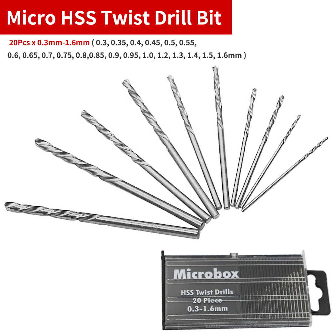 5 X HSS DRILL BIT 0.55 MM PRECISION GROUND QUALITY DRILLS