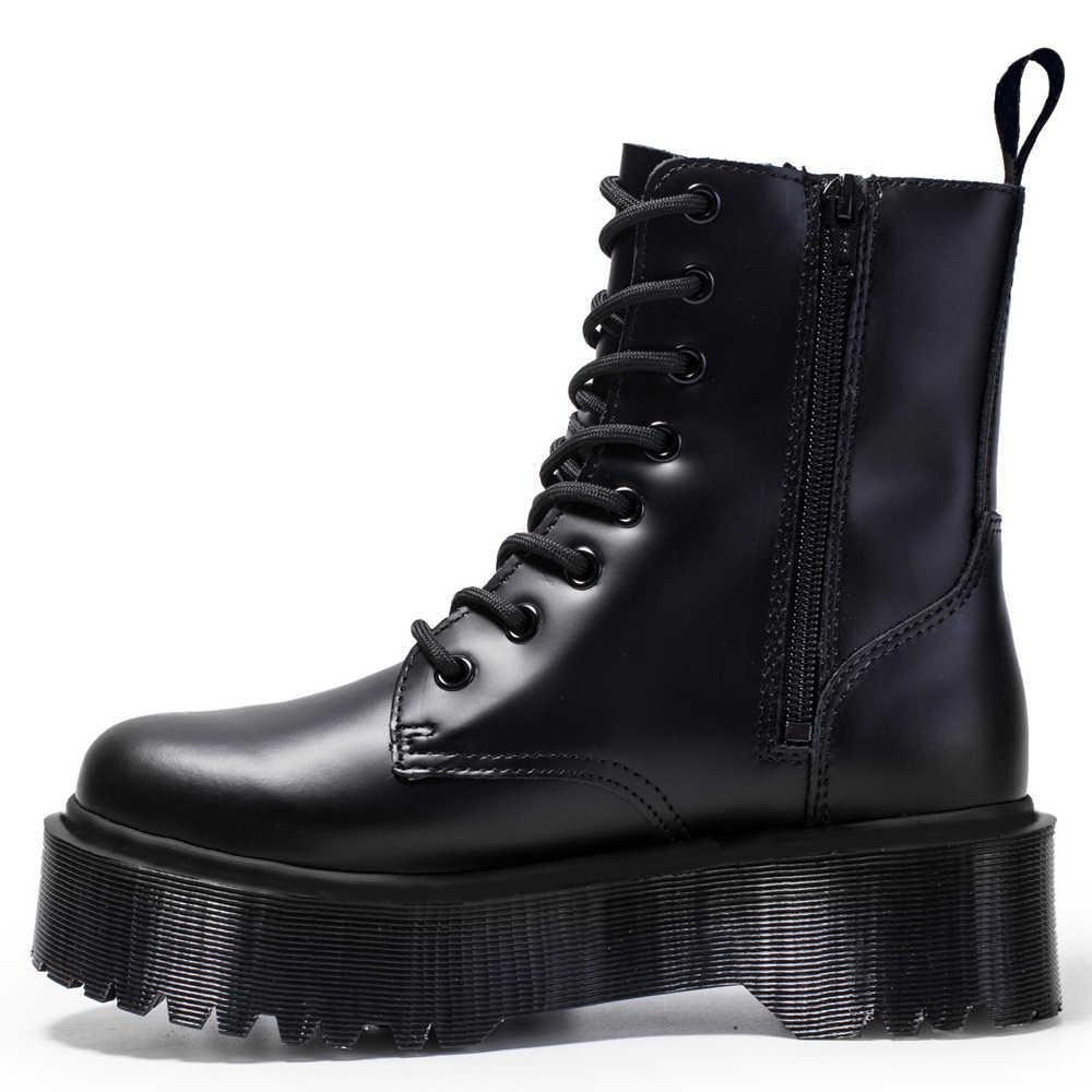 Giày Dr Martens Jadon 8-Mắt Giày Nữ 5 Cm Cao Nền Chun Xe Máy Da Thật Giày Thời Trang Nữ Đốc Martins giày Bốt Nữ 2020