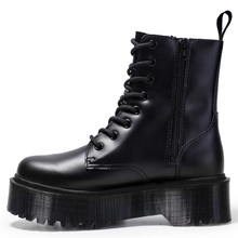 Jadon 8-Eye Doc Boots Women High Platform Ankle Shoes Chunky