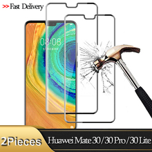 2Pcs Full Cover Tempered Glass For Huawei Mate 30 Pro Mate 30 Lite Screen Protector for huawei-mate-30-pro Protective Glass Film full cover 9d tempered glass for huawei mate 30 pro mate 30 protective screen protector film