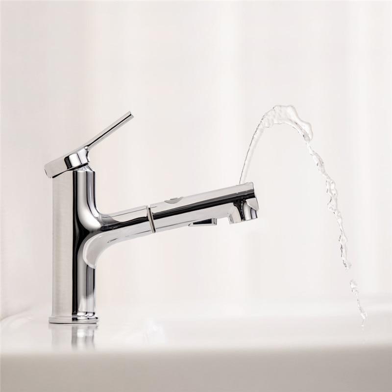 Dabai banheiro bacia mixer torneira com pull out rinser pulverizador gargle escovação bico para cima quente & fria torneira de água