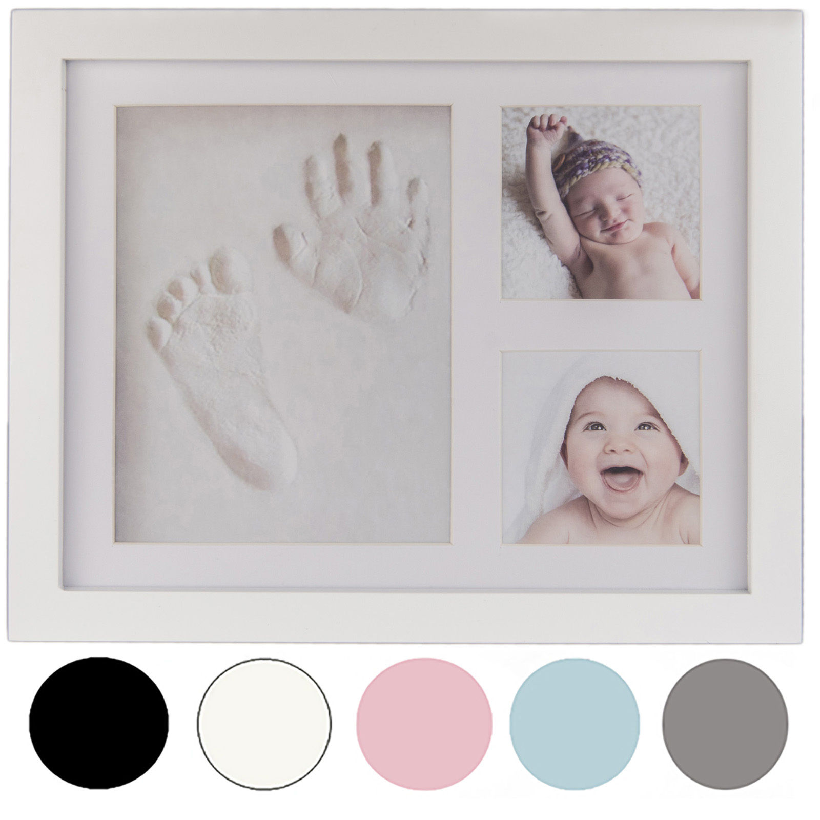 Baby Photo-Frame Inkpad Cast-Set Ink-Pad-Toys Imprint-Kit Storage Inkless Memento Baby Hand Print Kit For Newborns Baby Gift
