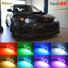 For Subaru Impreza WRX STI 2008 2009 2010 2011 2012 2013 2014 Excellent Multi-Color Ultra bright RGB LED angel eyes kit for volkswagen vw scirocco 2008 2009 2010 2012 2013 halogen headlight excellent multi color ultra bright rgb led angel eyes kit