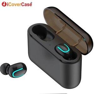 Image 2 - Twins Bluetooth kulaklık Apple iPhone 11 Pro Max X XS XR 8 7 6 6s artı 5 5S SE 2020 kablosuz kulaklıklar şarj kutusu ve mikrofon